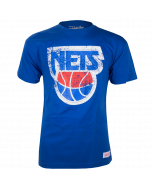 New Jersey Nets Mitchell & Ness Distressed HWC Logo majica