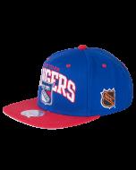 New York Rangers Mitchell & Ness 2 Tone Team Arch Snapback kapa