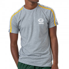 Green Bay Packers New Era Raglan Shoulder Print T-Shirt