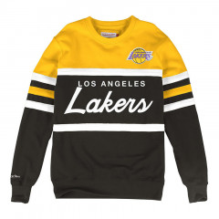 Los Angeles Lakers Mitchell & Ness Head Coach Crew pulover