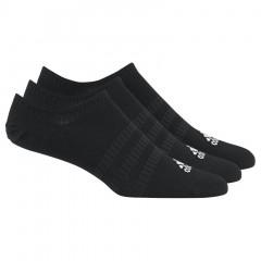 Adidas No-show 3x nizke nogavice črne