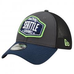 Seattle Seahawks New Era 39THIRTY Trucker 2021 NFL Official Draft Mütze