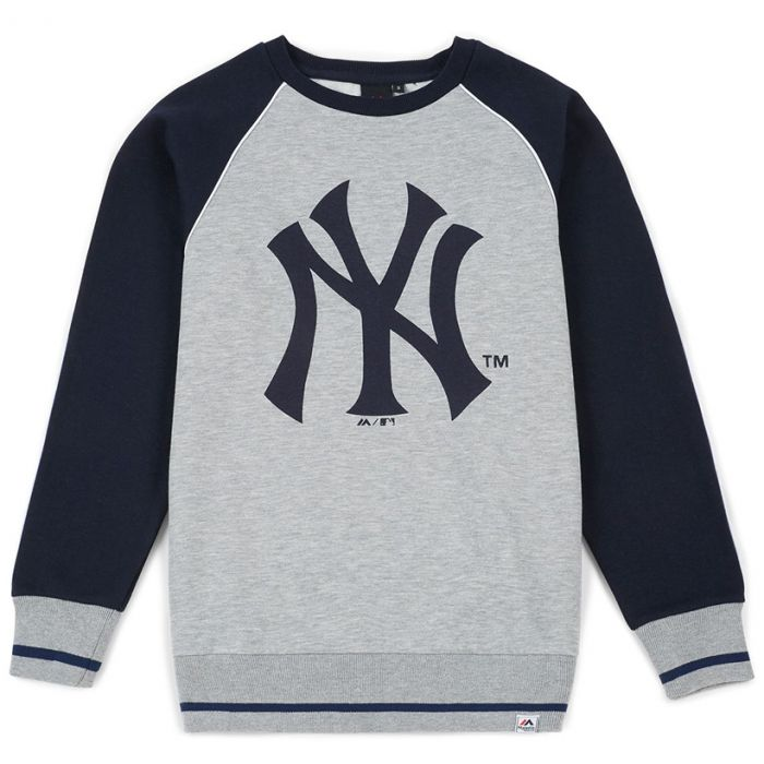 New York Yankees Majestic Athletic Raglan Crew Pullover (MNY3778E2)