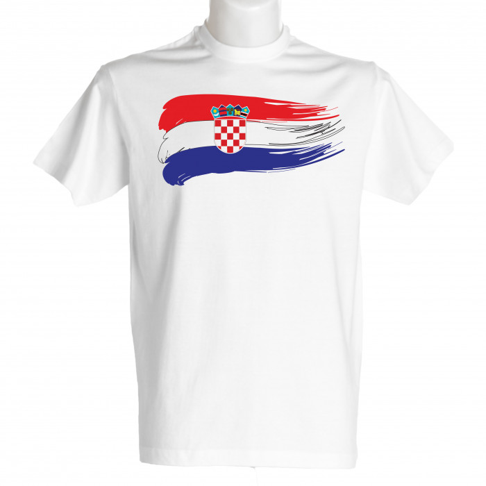 Kroatien Herren T-Shirt Flagge