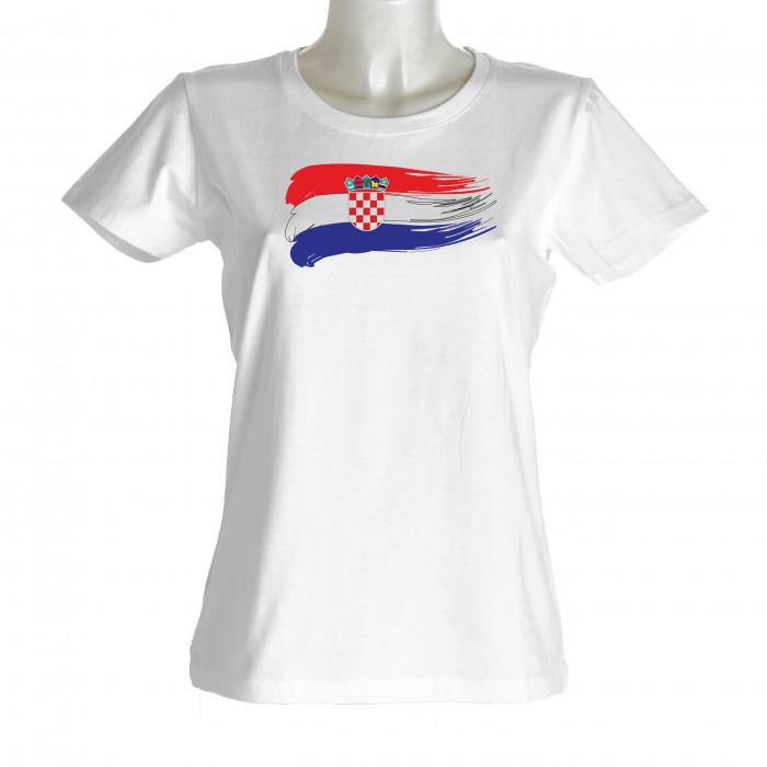 Kroatien Damen T-Shirt Flagge