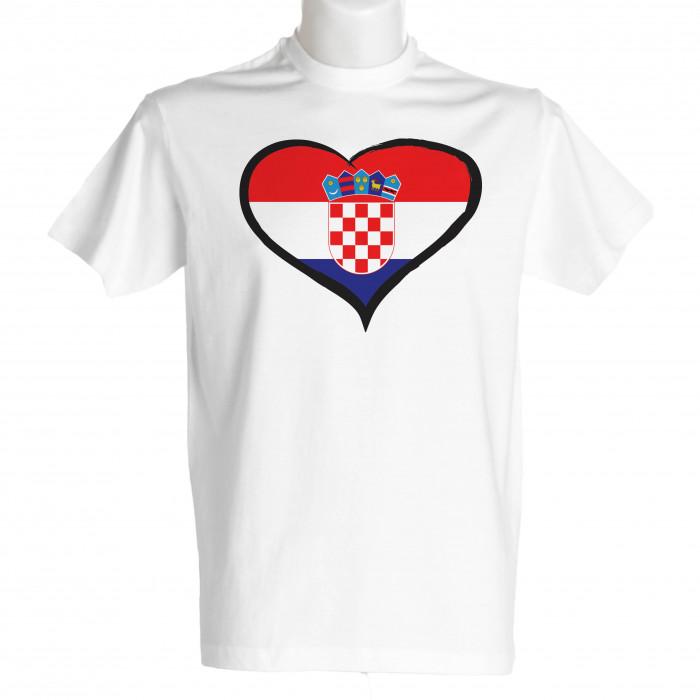 Hrvaška moška majica srček