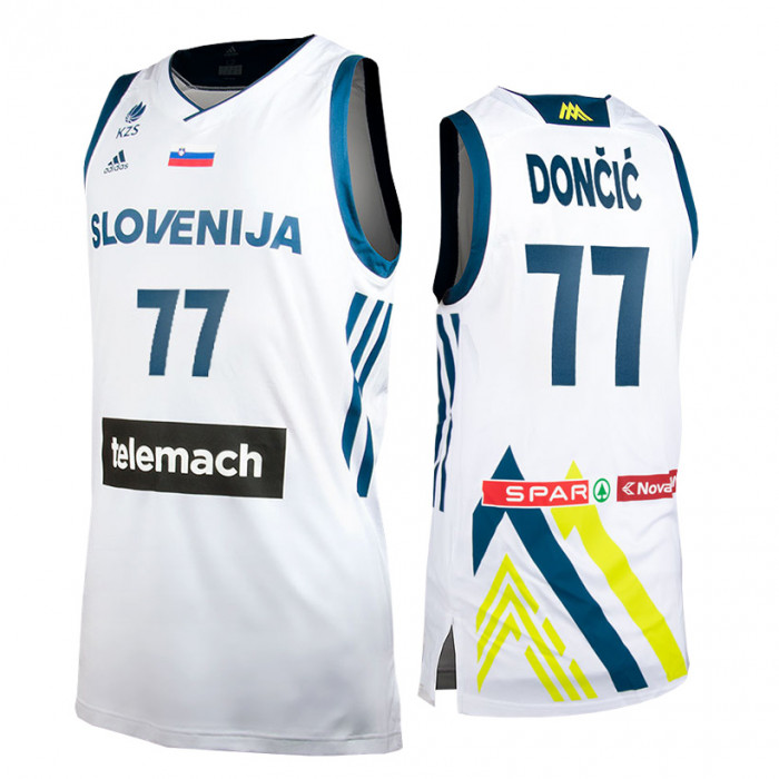 Slovenija Adidas KZS moški dres Home Dončić 77