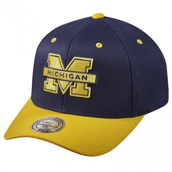 Michigan Wolverines Mitchell & Ness Team Logo 2-Tone 110 Flexfit Mütze