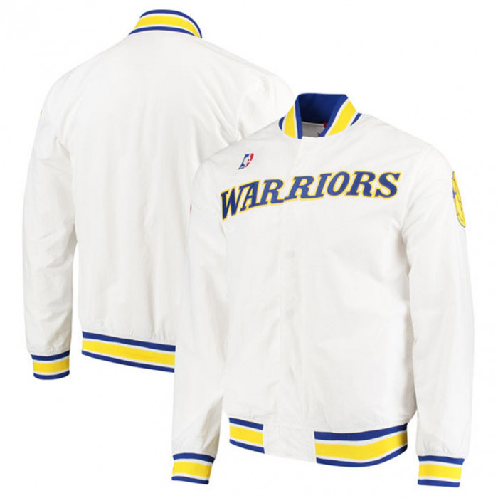 Golden State Warriors 1996 97 Mitchell & Ness Authentic Warm Up Jacke