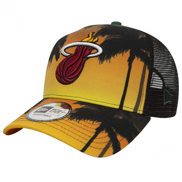 Miami Heat New Era Coastal Heat Trucker Mütze (80581163)