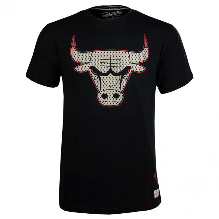 Chicago Bulls Mitchell & Ness Gold Logo majica