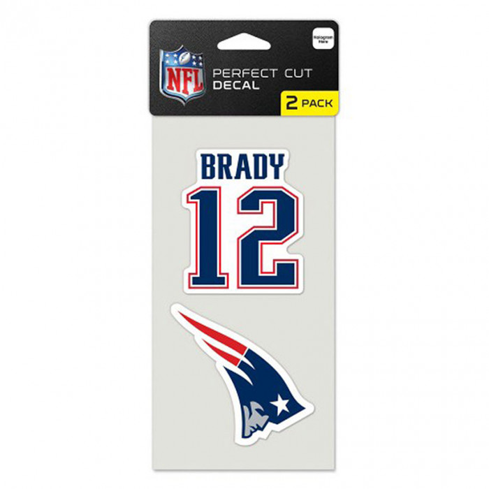 New England Patriots 2x nalepka Tom Brady