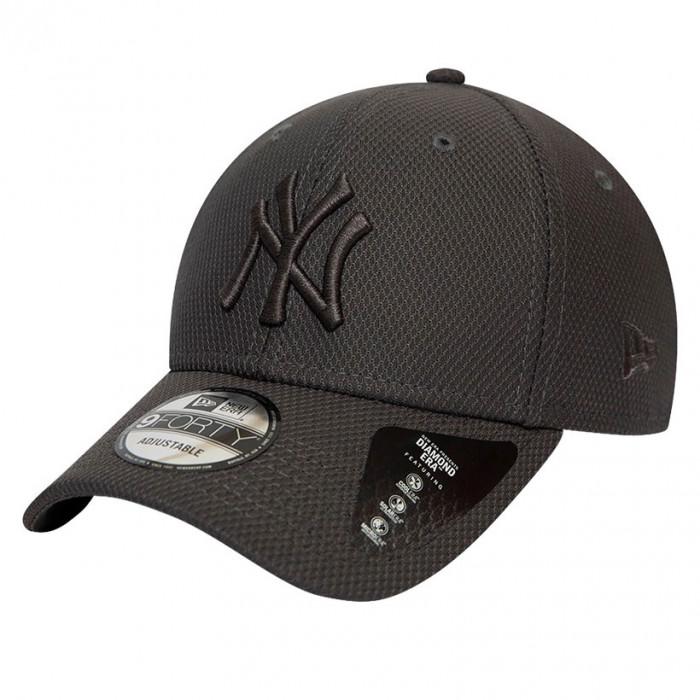 New York Yankees New Era 9FORTY Diamond Era Mono Grey kapa