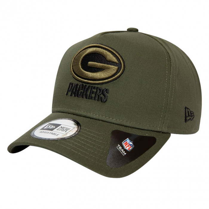 Green Bay Packers New Era 9FORTY A-Frame Closed Back kapa