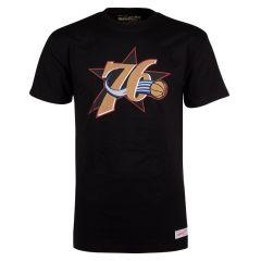 Philadelphia 76ers Mitchell & Ness Pushed Logo majica