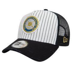 New York Yankees New Era A Frame Trucker World Series Patch kapa