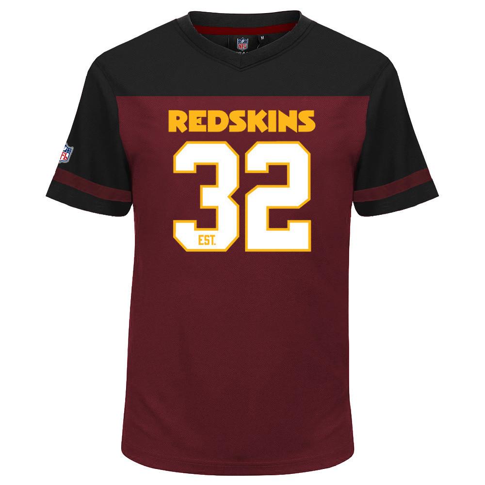 MAJESTIC Mesh poliestere Jersey Shirt-Washington Redskins