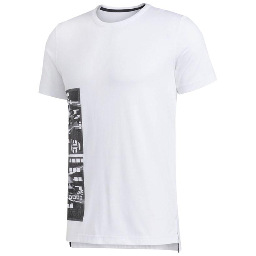 adidas Harden Logo T Shirt Weiß | adidas Austria
