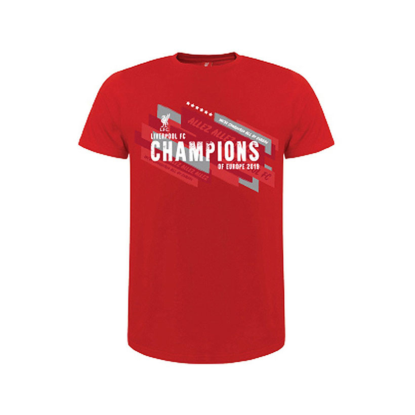 Liverpool Champions Of Europe 2019 T shirt per bambini