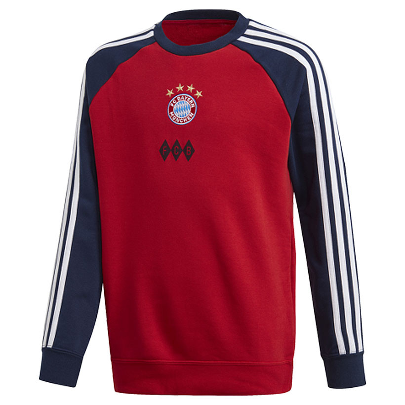 FC Bayern München Adidas Kinder Crew Pullover