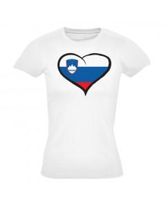 Slovenija ženska majica srček