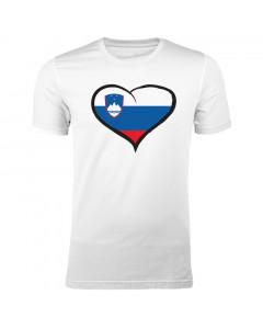 Slovenija moška majica srček