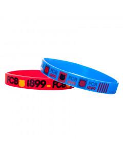 FC Barcelona 2x Silikon Armband