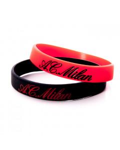 AC Milan 2x Silikon Armband