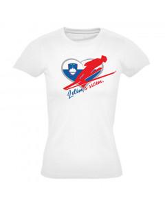 Slovenija ženska majica Letim s srcem