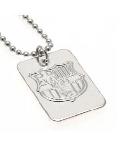 FC Barcelona posrebreni Dog Tag sa ogrlicom