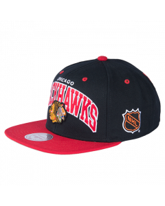 Chicago Blackhawks Mitchell & Ness 2 Tone Team Arch Snapback Mütze