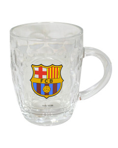 Fu/ßball Bierglas Glas mit FC Barcelona Logo