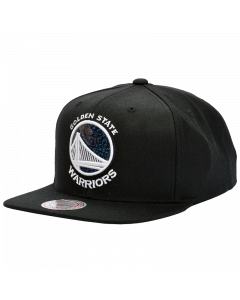 Golden State Warriors Mitchell & Ness Dark Hologram kapa