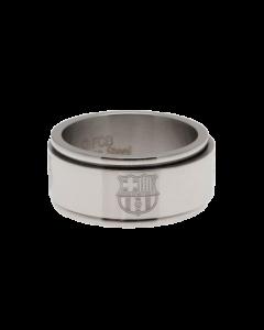 FC Barcelona Spinner Ring aus Edelstahl