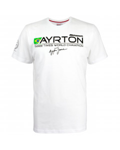 Ayrton Senna McLaren Three Times World Champion T-Shirt