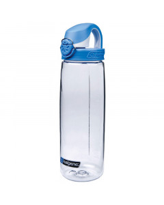 Nalgene Trinkflasche OTF 750 ml (5565-2024 durchsichtig, blauer Deckel)