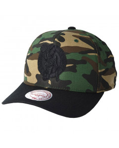 Boston Celtics Mitchell & Ness Camo Flexfit 110 Mütze