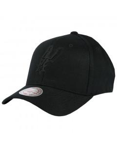 San Antonio Spurs Mitchell & Ness Black Flexfit 110 kapa