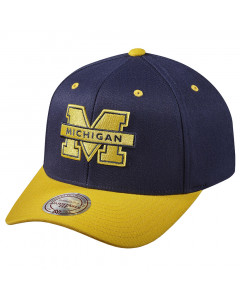 Michigan Wolverines Mitchell & Ness Team Logo 2-Tone 110 Flexfit kapa