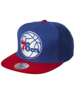 Philadelphia 76ers Mitchell & Ness XL Logo 2 Tone kapa