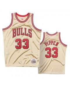 Scottie Pippen 33 Chicago Bulls 1997 Mitchell & Ness Gold Swingman dres