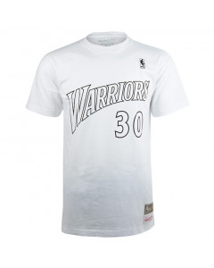 Stephen Curry 30 Golden State Warriors Mitchell & Ness Black & White majica
