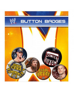 WWE Badge Set 6x značka