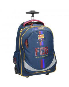 FC Barcelona Trolley Schulrucksack auf Rädern