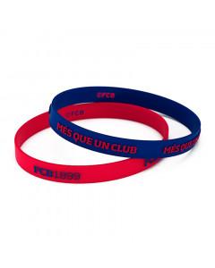 FC Barcelona 2x Kinder Silikon Armband FCB1899