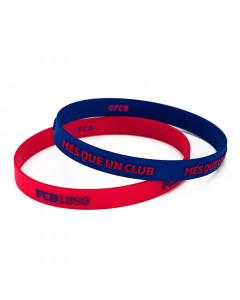 FC Barcelona 2x Silikon Armband FCB1899