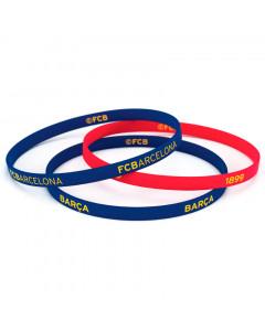 FC Barcelona 3x Kinder Silikon Armband