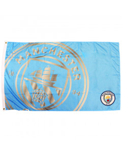 Manchester City Team React Fahne Flagge 152x91