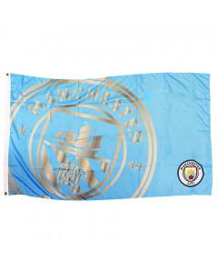 Manchester City Team React Fahne Flagge 152x91