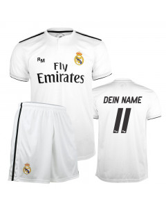 Real Madrid Home Replica Kinder Trikot Komplet Set (Druck nach Wahl +12,30€)